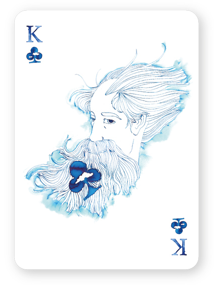 Watercolor_Playing_Cards_by_Cansu_Cengiz_King_of_Clubs