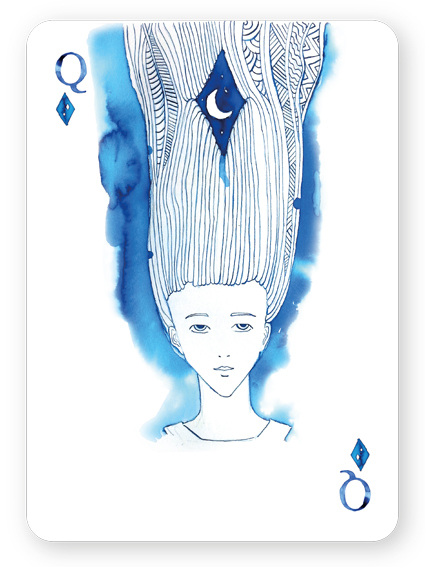 Watercolor_Playing_Cards_by_Cansu_Cengiz_Queen_of_Diamonds
