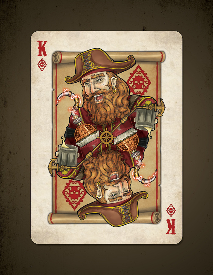 Kickstarter Bicycle Steampunk Pirates Playing Cards By