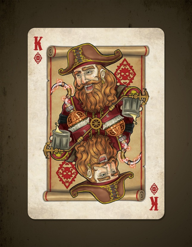 Bicycle_Steampunk_Pirates_Playing_Cards_King_of_Diamonds_2