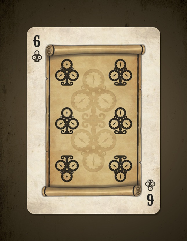Bicycle_Steampunk_Pirates_Playing_Cards_Six_of_Clubs