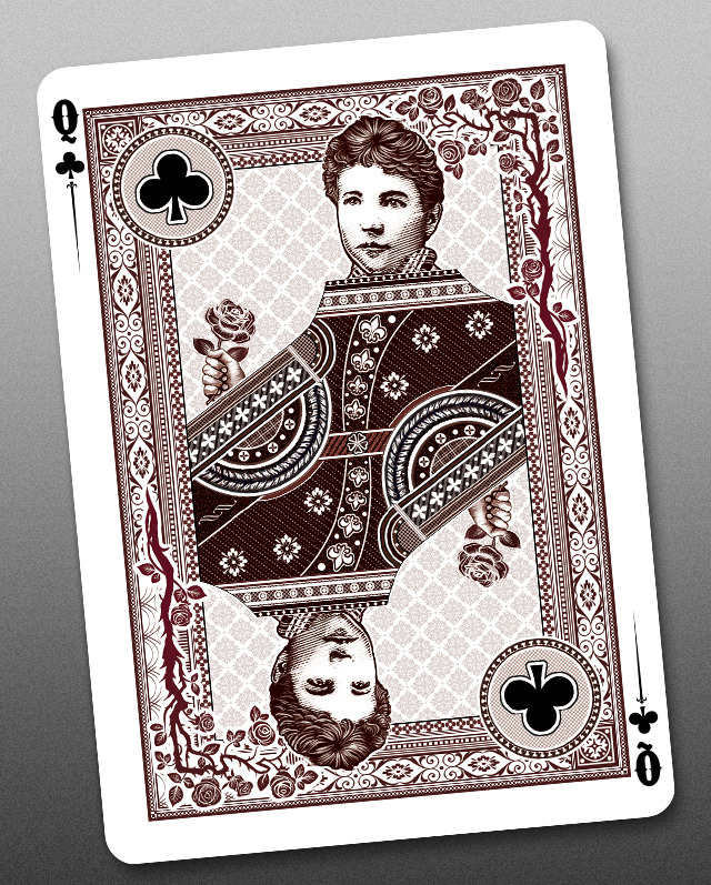 Bicycle_Wanted_Dead_or_Alive_Playing_Cards_Queen_of_Clubs_2