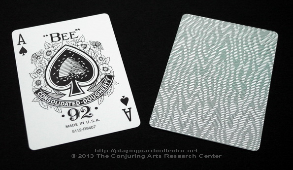 Erdnase-216-Bee-Squeezers-Playing-Cards-Green-Ace-of-Spades