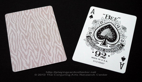 Erdnase-216-Bee-Squeezers-Playing-Cards-Tan-Ace-of-Spades