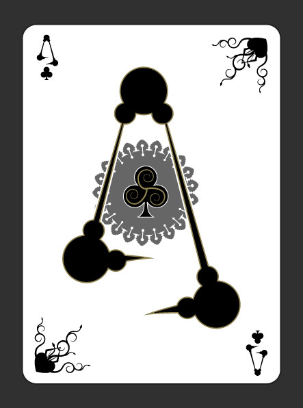 Gothic-Aces-by-Scott-Burdett-Ace-of-Clubs