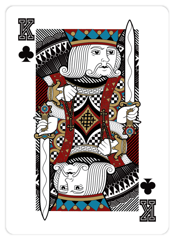Playing_Cards_by_John_Powell_King_of_Clubs