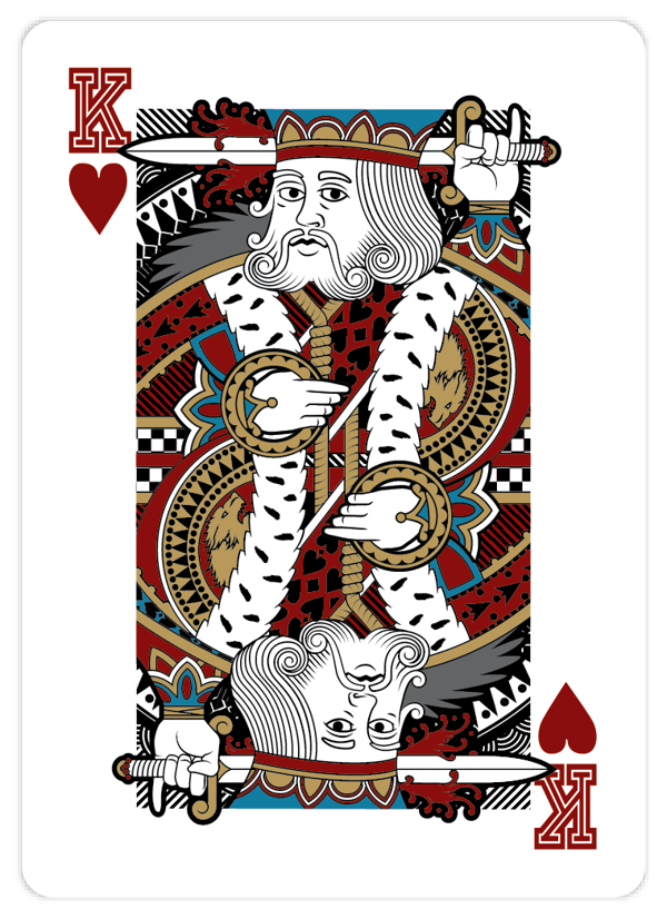 King Of Hearts Playing Card The king of hearts