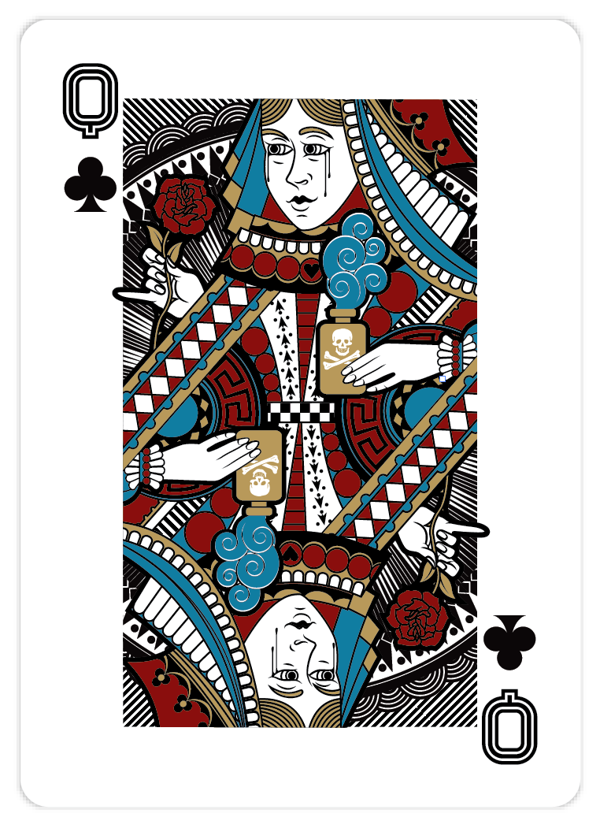 Playing_Cards_by_John_Powell_Queen_of_Clubs
