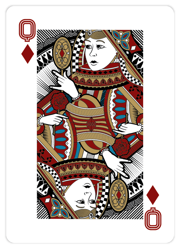 Playing_Cards_by_John_Powell_Queen_of_Diamonds