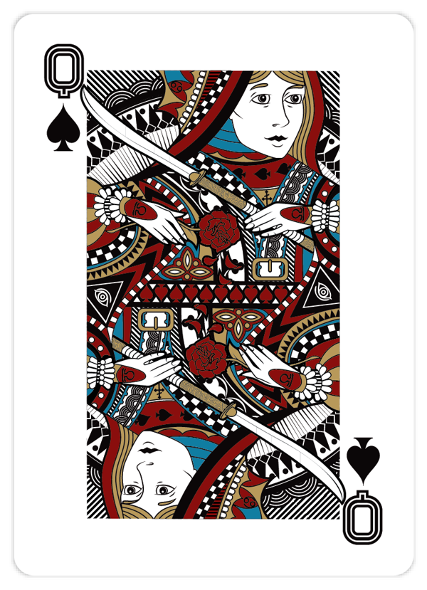 Playing_Cards_by_John_Powell_Queen_of_Spades