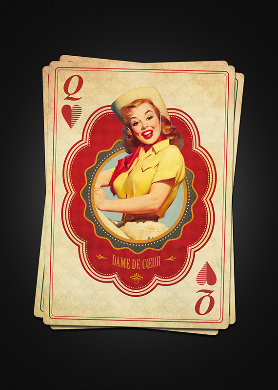Vintage-French-Playing-Cards-by-Moustafa-Khamis-Queen-of-Hearts