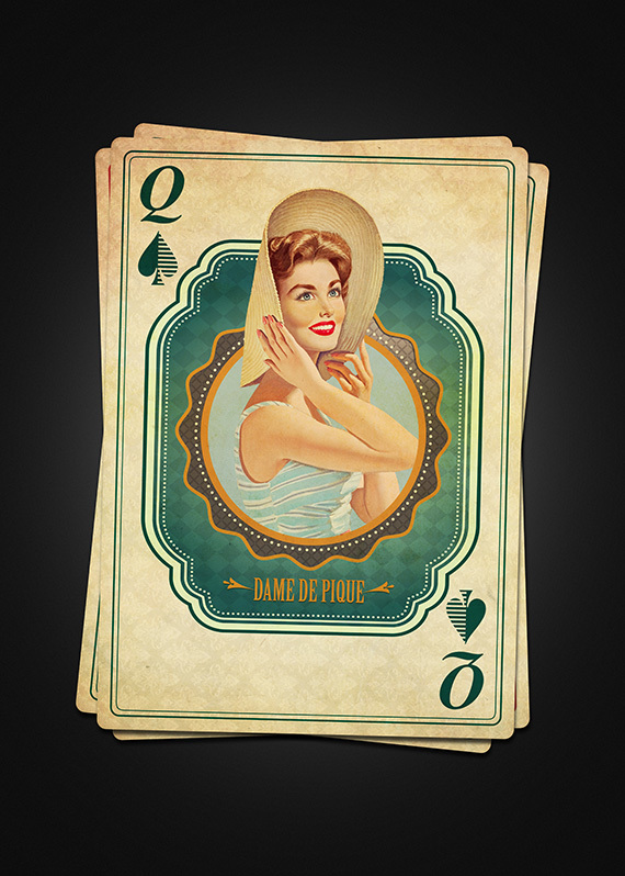 Vintage_French_Playing_Cards_by_Moustafa_Khamis_Queen_of_Spades
