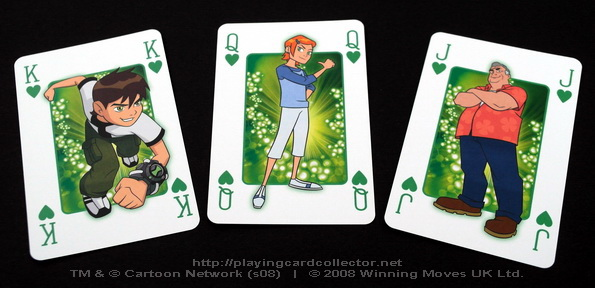 Waddingtons-Ben-10-Playing-Cards-Hearts-Court-Cards