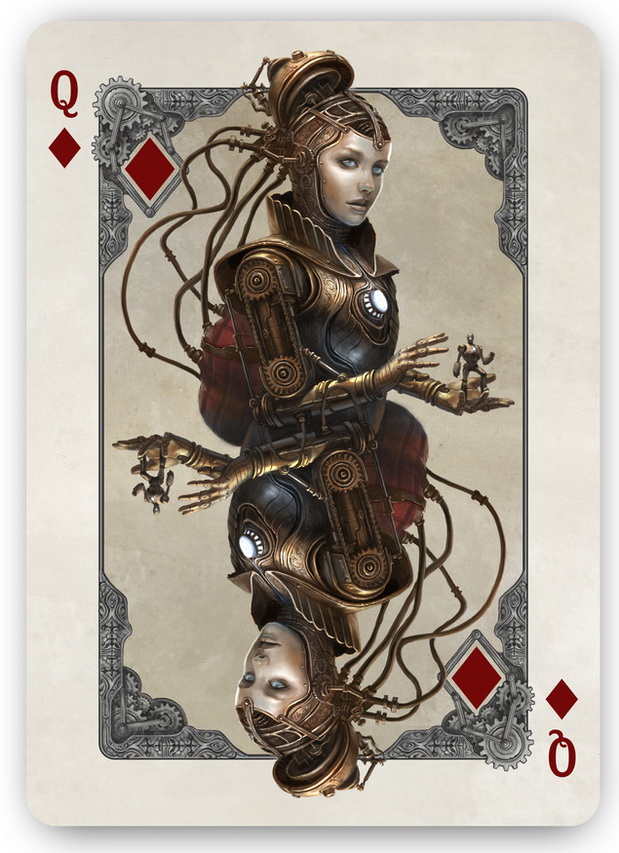 Bicycle_Kingdoms_of_a_New_World_Playing_Cards_Queen_of_Diamonds