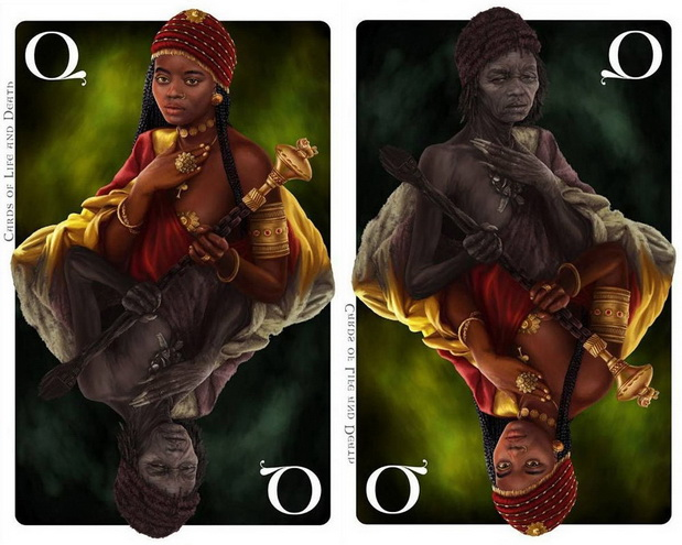 Cards_of_Life_and_Death_by_Kornel_Ravadits_Queen_of_Clubs