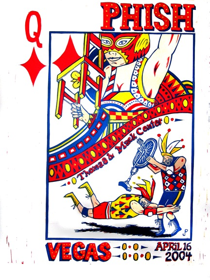 Phish_Vegas_Posters_Queen_of_Diamonds_by_Jim_Pollock