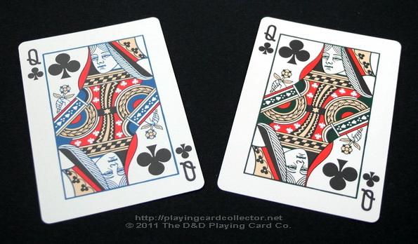 Vintage-Plaid-Playing-Cards-Queen-of-Clubs