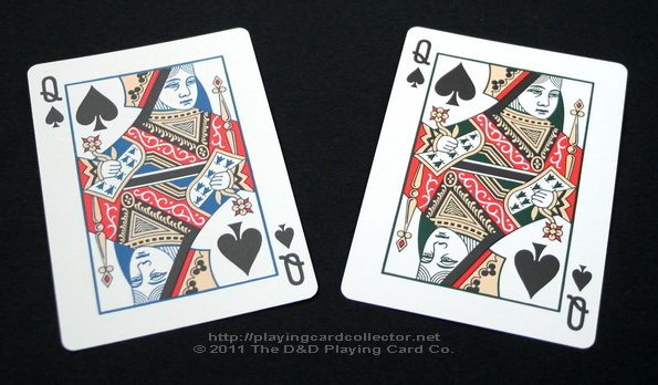 Vintage-Plaid-Playing-Cards-Queen-of-Spades
