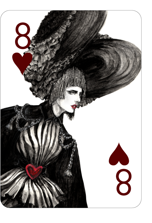 Decked_Out_Fashion_Playing_Cards_by_Connie_Lim_Eight_of_Hearts