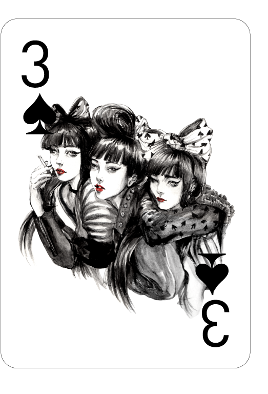 Decked_Out_Fashion_Playing_Cards_by_Connie_Lim_Three_of_Spades