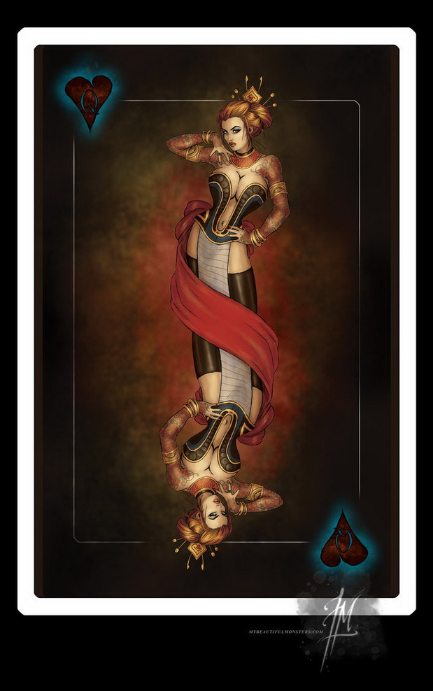 Gamblers-Playing-Cards-by-Lily-McDonnell-Queen-of-Hearts