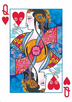 Bicycle-Emperor-Playing-Cards-by-Joanne-Lin-Queen-of-Hearts
