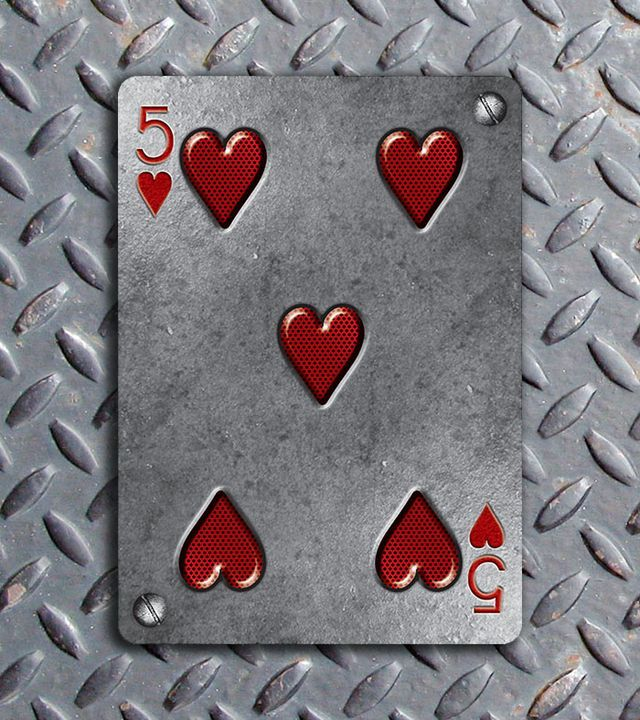 Bicycle-Metal-Deck-Five-of-Hearts