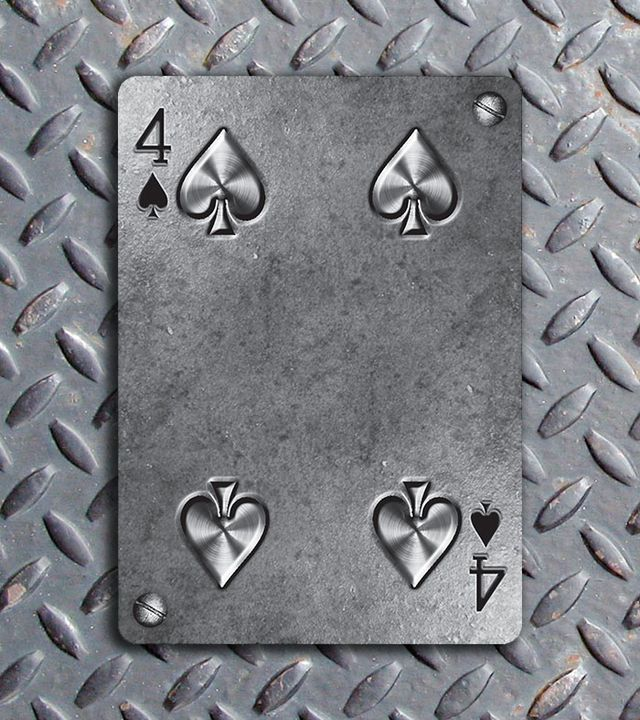 Bicycle-Metal-Deck-Four-of-Spades