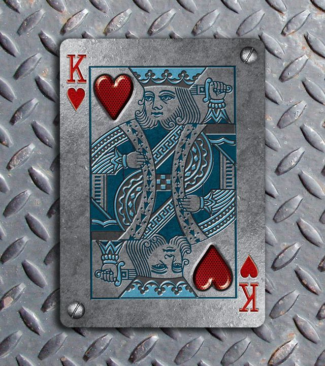 Bicycle-Metal-Deck-King-of-Hearts