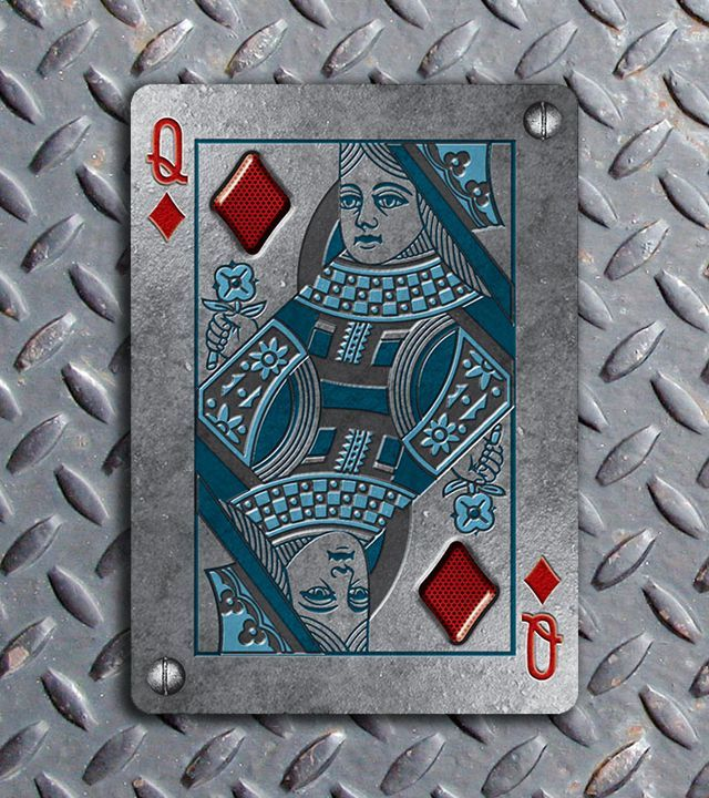 Bicycle-Metal-Deck-Queen-of-Diamonds