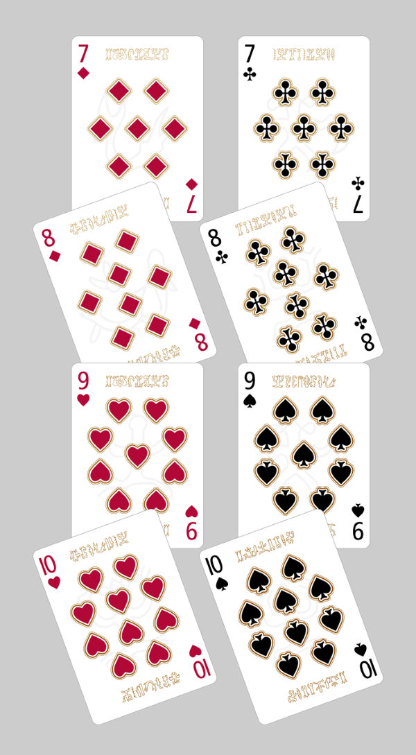 Bicycle-RongoRongo-Deck-Number-Cards