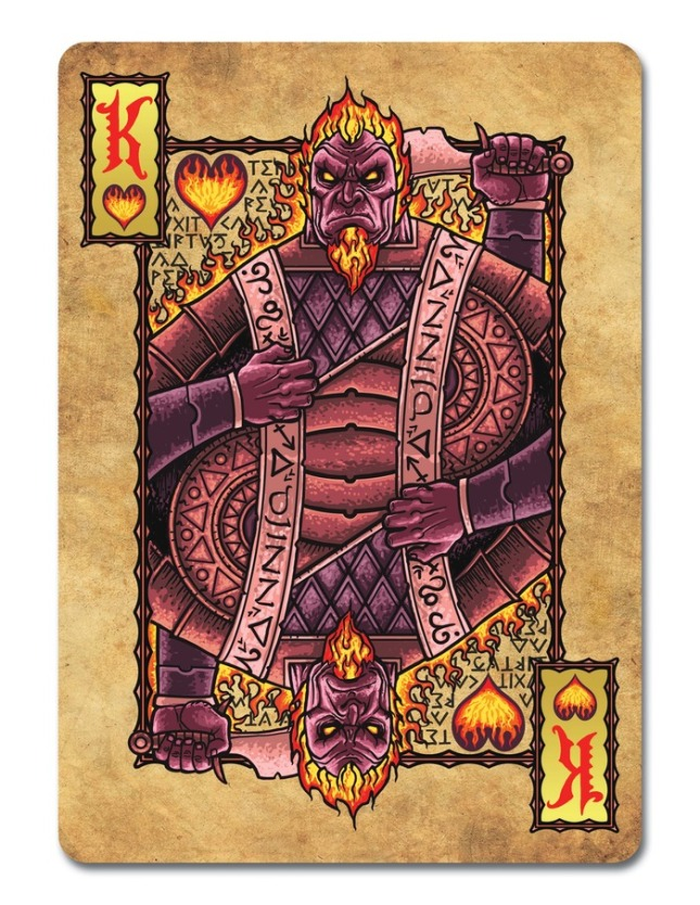 Grimoire-Playing-Cards-Elemental-Magick-King-of-Hearts
