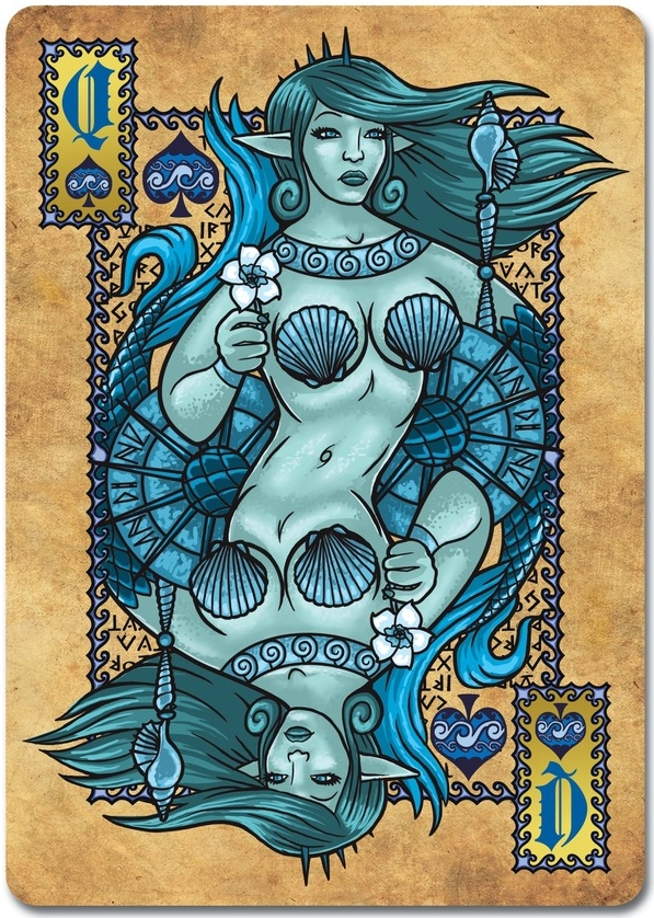 Grimoire-Playing-Cards-Elemental-Magick-Queen-of-Spades