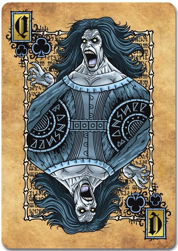 Grimoire-Playing-Cards-Necromancy-Queen-of-Clubs