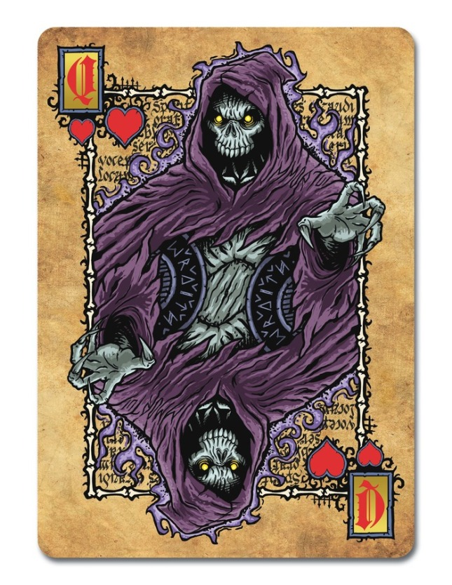Grimoire-Playing-Cards-Necromancy-Queen-of-Hearts
