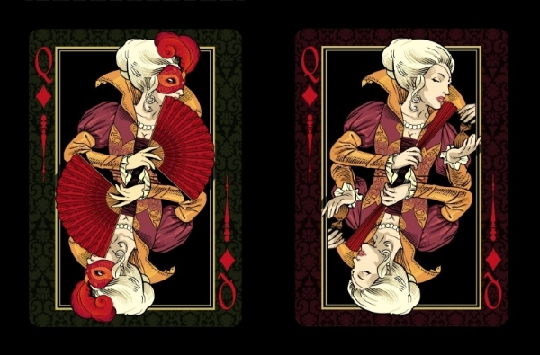 Venexiana-Dark-Playing-Cards-Queen-of-Diamonds