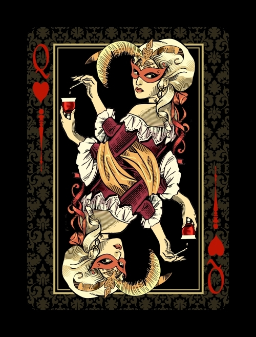 Venexiana-Dark-Playing-Cards-Queen-of-Hearts