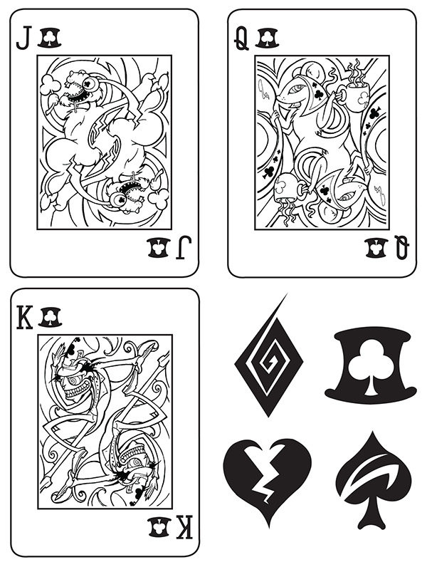 Alice-in-Wonderland-Playing-Cards-by-Adam-Mordecai-Clubs