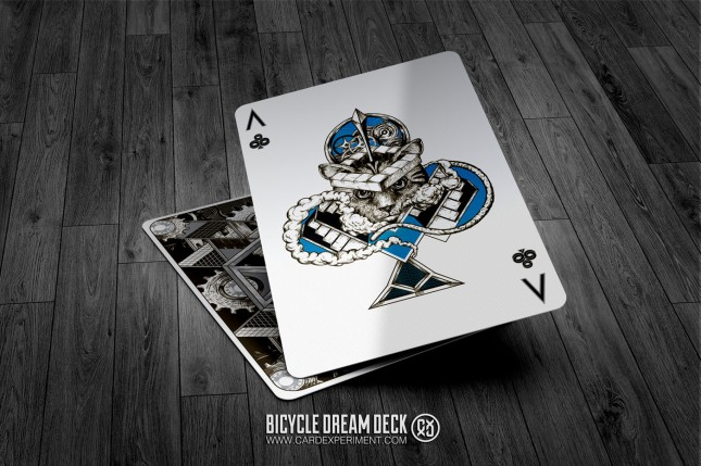 Bicycle-Dream-Playing-Cards-Silver-Ace-of-Clubs