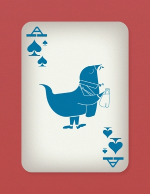 Jazzy-Birds-Playing-Cards-by-Paul-Bronaugh-Ace-of-Spades