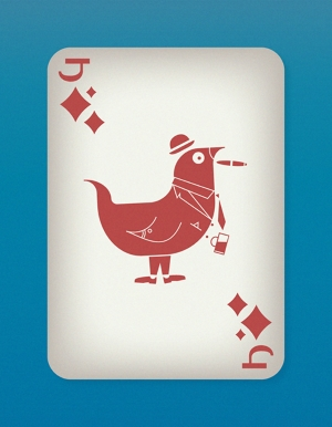 Jazzy-Birds-Playing-Cards-by-Paul-Bronaugh-Jack-of-Diamonds
