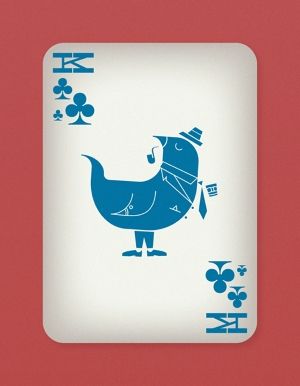 Jazzy-Birds-Playing-Cards-by-Paul-Bronaugh-King-of-Clubs