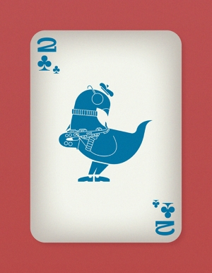 Jazzy-Birds-Playing-Cards-by-Paul-Bronaugh-Two-of-Clubs