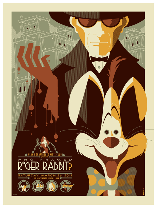 Roger-Rabbit-poster-by-Tom-Whalen
