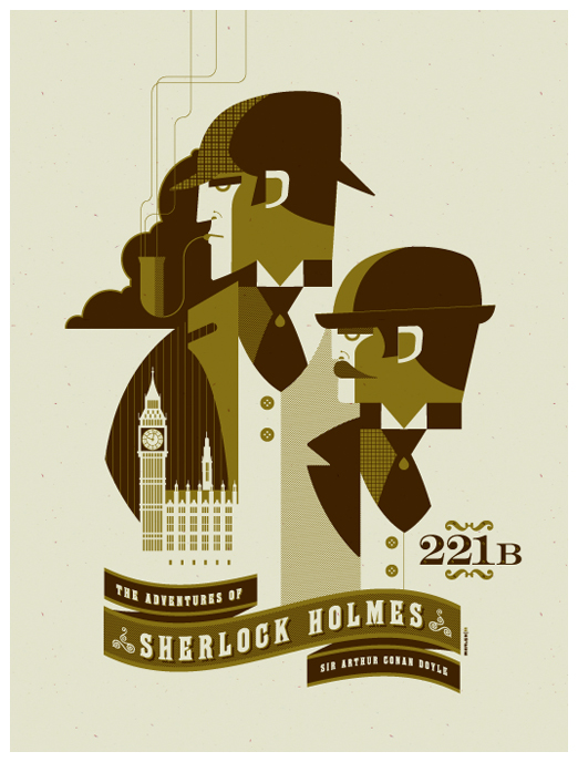 Sherlock-Holmes-poster-by-Tom-Whalen