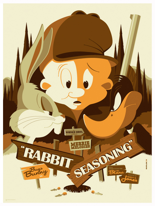 Luney-Toons-poster-by-Tom-Whalen