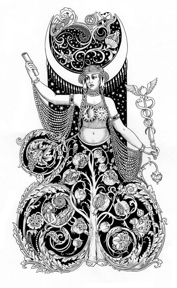 Priestess-Tarot-Card-by-Sveta-Dorosheva