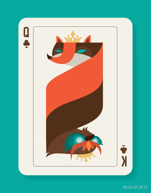 Queen-Fox-and-King-Owl-Card-by-Valerie-Jan-Villaflor