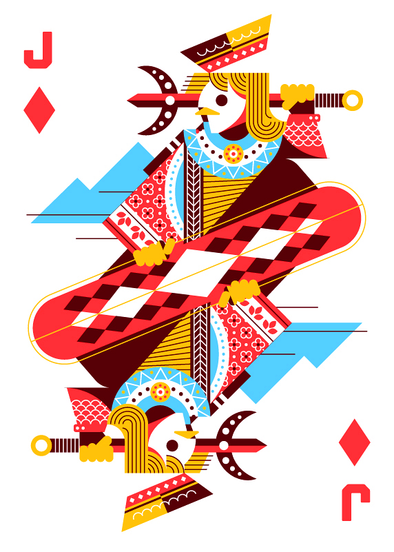 Royal-Seasons-Playing-Cards-by-Ricky-Linn-Jack-of-Diamonds