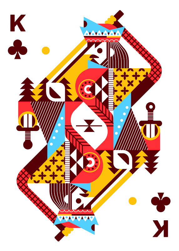 Royal-Seasons-Playing-Cards-by-Ricky-Linn-King-of-Clubs